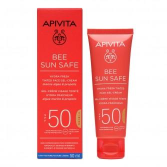 APIVITA BEE SUN SAFE TONIRANA GEL KREMA ZA LICE SPF50 50ML