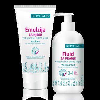 BIOVITALIS SET 2u1 Emulzija 150 ml i Fluid 250 ml