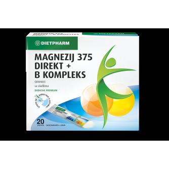 DIETPHARM MAGNEZIJ 375 DIREKT + B KOMPLEKS GRANULE 20 KOM