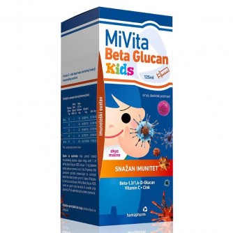 HAMAPHARM MIVITA BETA GLUCAN KIDS 125 ML 1+1
