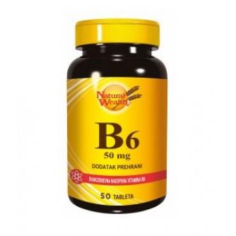 NATURAL WEALTH VITAMIN B6 50 TABLETA